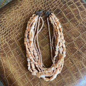 Beautiful artist-made coral-shade necklace